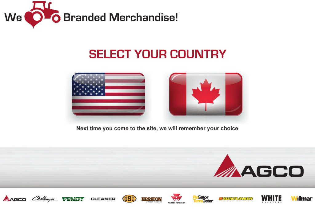 AGCO Merchandise County Selection